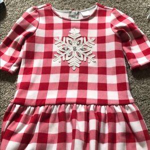 Snowflake soft 5T Gymboree Dress